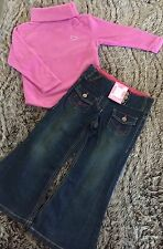 Girls size 5 New Winter Jumper With diamonte And adjust Bootleg Jeans