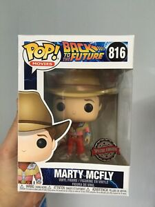 Funko Pop Back To The Future Marty Cowboy Outfit Exclusive Minor Box Damage