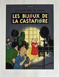 """HERGÉ .TINTIN . SÉRIGRAPHIE - """" LES BIJOUX DE LA CASTAFIORE """""""