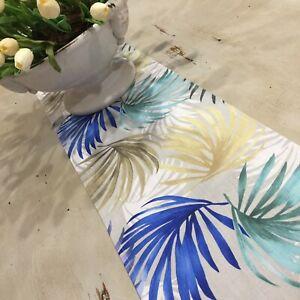 Table Runner, Blue, White Yellow Runner, Last One! Cotton, Handmade in Australia