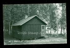 1940's RPPC Cabin #6 Hrantz's Resort on Moose Lake Deer River MN  B540