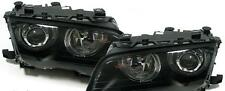 Black finish projector headlights with angel eyes BMW E46 sedan Touring 98-01