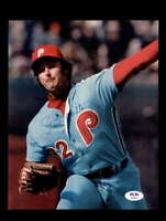 Steve Carlton PSA DNA Signed 8x10 Vintage 1970`s Phillies Photo Autograph