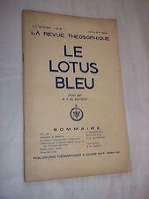 LA REVUE THEOSOPHIQUE - LE LOTUS BLEU (JUILLET 1947)