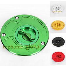 CNC Fuel Gas Cap For Kawasaki ZX6R 00-09 ZX6RR 03-06 ZX9R 00-03 ZX10R 04-09 US