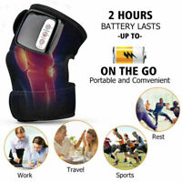 Heat Knee Brace Wrap Vibration Massager Arthritis Therapy Knee Joint Pain Relief
