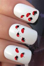 WATER NAIL TRANSFERS GIRLY LADYBIRDS LADY BIRD BUGS TATTOO DECALS STICKERS *379