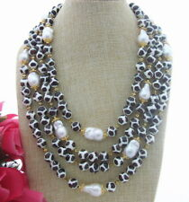 FC031106 4Strds 22MM Keshi Pearl Agate Necklace