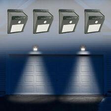 4Stk. 12LED Solarleuchte Solar Lampe mit Bewegungsmelder Gartenleuchte Wandlampe