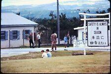 Org Photo Slide 1960's Vietnam war military Base soldier Gate guard sign women i