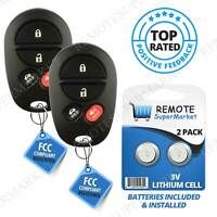 Replacement for Toyota 2005-2008 Avalon 2004-2008 Solara Remote Car Key Fob Pair