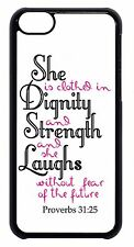 For Apple iPod 4 5 6 Christian Religious Bible Verse Black or White Case Cover