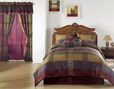Chezmoi Collection 7pcs Moroccan Jacquard Patchwork Comforter Set, Queen