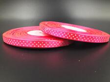 "10 Yards 3/8"" 10mm  Polka Dot Ribbon Satin Craft Supplies crafts Purple red"