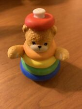 Lucy & Me Rainbow Stacking Ring Bear Enesco Lucy Rigg 1983 Ceramic Figurine