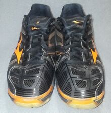 Mizuno Wave Lightning RX2 VolleyBall Shoes Womens.8 Black orange Dynamotion Fit