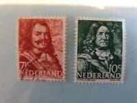 10 Cent 1943 - Johan Evertsen &  71/2 cent Michiel Adriaenszoon de (Netherlands)