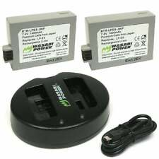 Wasabi Power Battery x 2 and Dual USB Charger for Canon LP-E5, Canon EOS Kiss