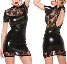 Ropa Interior Vestido de Mujer Elastico Negro ~ Black Womans Lingerie Dress  #S9