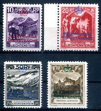 LIECHTENSTEIN DIENST 1932 2-3,6,8 * SPITZENWERTE (Z0793