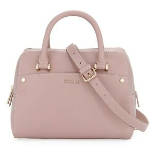 Furla Margot Leather Satchel Pink