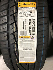 1 New 235 55 18 Continental Extreme Contact DWS06 Tire