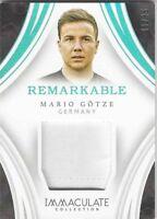 Mario Götze Deutschland BVB Immaculate 2017 Remarkable Memorabilia #05/35
