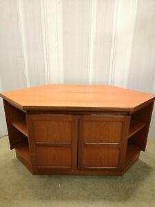 "Nathan Teak Corner TV Unit Cabinet Cupboard. Vintage Mid Century. 20""/51cm high."