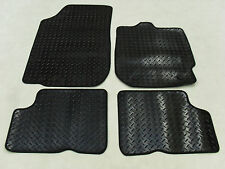 Dacia Duster 2013-on Fully Tailored Deluxe RUBBER Car Mats in Black