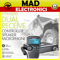 ORICOM DTX4200 5W 80CH UHF CB RADIO MOBILE REMOTE LCD MIC DUAL RECEIVE 12V/24V