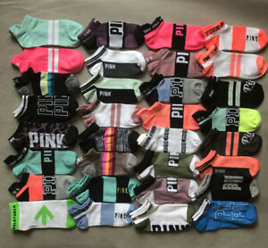 10 Pairs Victoria's PINK Ultimate  Ankle Socks  VS No-Show sock