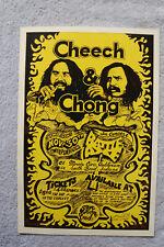 Cheech & Chong Concert Tour poster 1972 South Bend Indiana Morris Civic Audi__