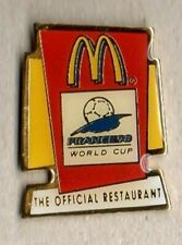BADGE 4 McDONALDS WORLD CUP FRANCE 1998 VINTAGE ENAMEL PIN IN MINT CONDITION