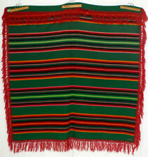 "PENDLETON Wool Camp Blanket Serape Full 60x66"" Rasta Postage Stamp 1923 Charity!"
