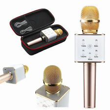 Gold Microphone Q7 Wireless Bluetooth Handheld KTV Karaoke Mic Speaker For Phone