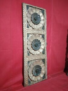 Antique Wooden Wall Panel Hand Floral Carved panel Window Estate Home Decor Art