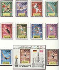 YEMEN Kingdom Olympic Games 1972 Munich perforated set + block MNH