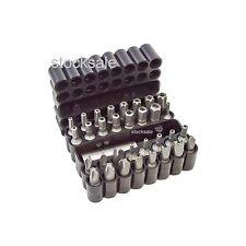 33pc Conjunto de Bits de alimentación de seguridad Herramienta Destornillador Torx Pozi Star 60mm Soporte Magnético