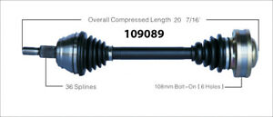 New CV Shaft 109089 Worldparts CV Axles