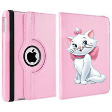 Rotating Cute Marie Aristocats Disney Case Cover Stand For Apple iPad