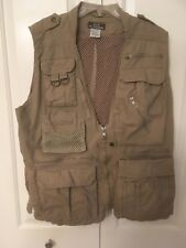 Fishing -Hunting Vest. Medium 9 Pockets.  Mesh lining  100% cotton Pre-owned