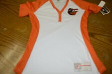 7f5ed7216 Majestic MLB Womens Orioles 3 Button Down Jersey Shirt NEW W Tags - Size  Small