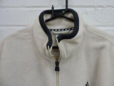 """Adidas Ivory White Fleece Jacket Zip Close Size 52"""" Chest"""