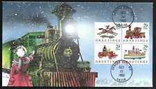 1992 Christmas FDC #2714a - HAND PAINTED ARTIST's PROOF by BEVIL