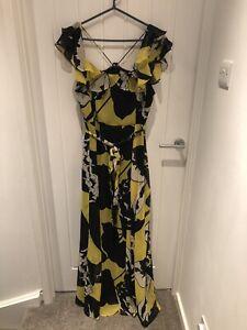 STUNNING Ladies Asos Yellow Floral Maxi Dress, Size 18.