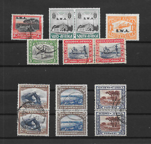 SOUTH WEST AFRICA SWA  - KGV 1927~1931 Nice Mint & Used Selection - MH & VFU