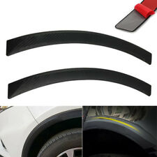 2pcs Universal Black Carbon Fiber Car Fender Flares Wheel Eyebrow Lip Decoration