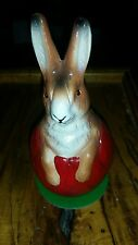 Ino Schaller German Easter Paper Mache Easter Bunny Rabbit Red Egg Handpainted