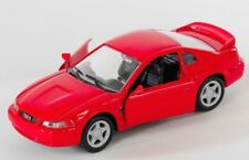 BLITZ VERSAND Ford Mustang GT 1999 rot / red 1:32 Welly Modell Auto NEU & OVP
