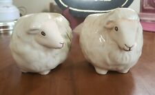 "Vintage Partylite Sheep Votive Candle Holders 4"" Long Candle Lamb"